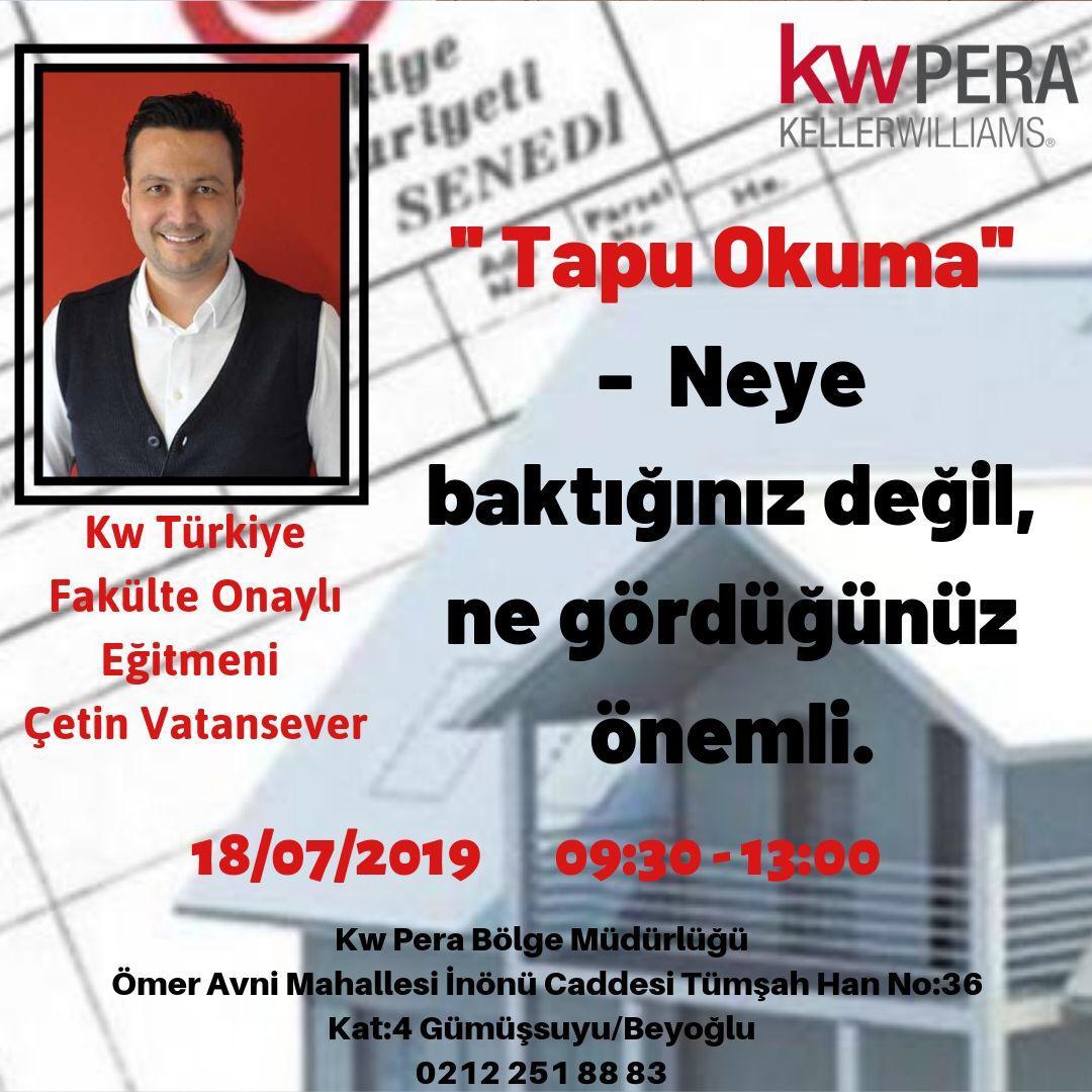 kw PERA 'da Tapu Okuma , eğitimi